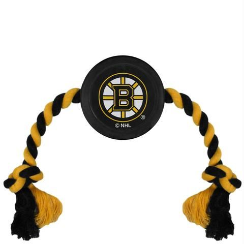 Boston Bruins Pet Hockey Puck Rope Toy #cutedogs #dogscorner #dogslife