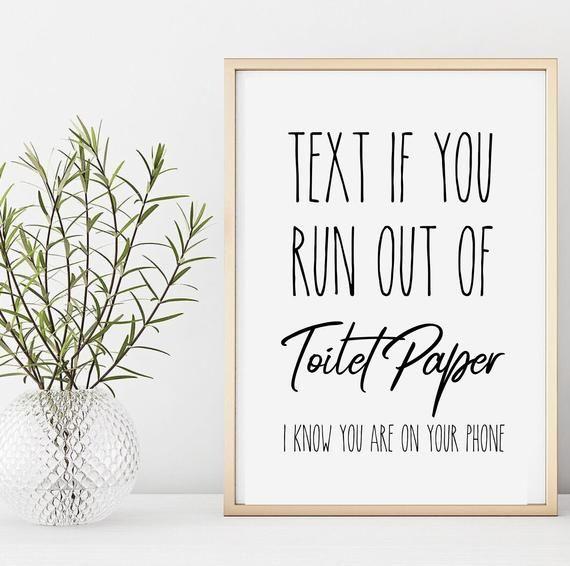 Funny Bathroom Art Typography, Bathroom Art Print