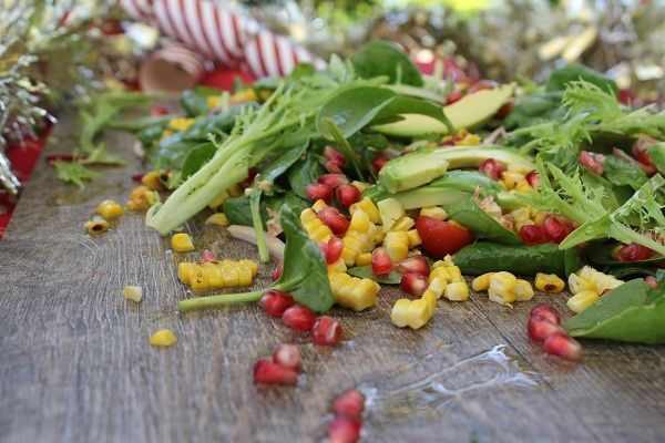 Baby Spinach, Avocado, Grilled Corn, Coriander, Tomato, Red Onion and Pomegranate Salad - Best Chef Recipes | A Perfect Pantry - Kambrook
