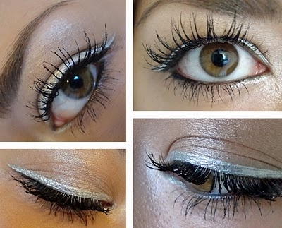 To try: Silver liquid liner. Gold never looks quite right on my skin tone.