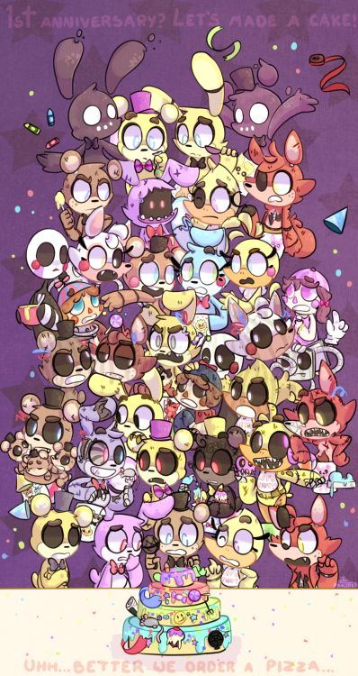 Pin this to come to my birthday on November 22 with the FNaF gang!!! (From:Valeria and comment happy birthday on November 22 GOOD-BYE)         And let's order a pizza :3