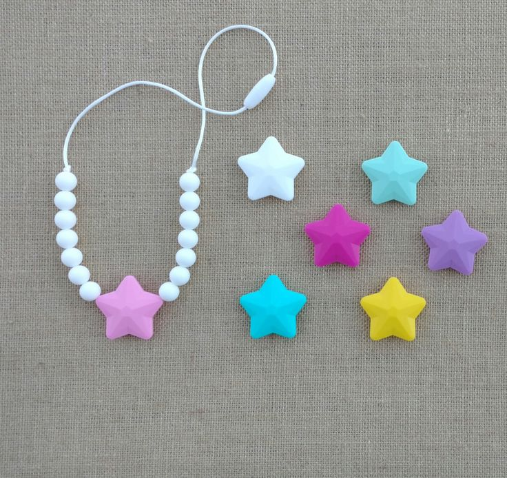 Toddler Teething Necklace, Chew Necklace, Toddler Silicone Necklace, Necklace fo Girls, Chewable Jewelry, Star Pendant Necklace by TheSweetMintCo on Etsy https://www.etsy.com/listing/267923790/toddler-teething-necklace-chew-necklace