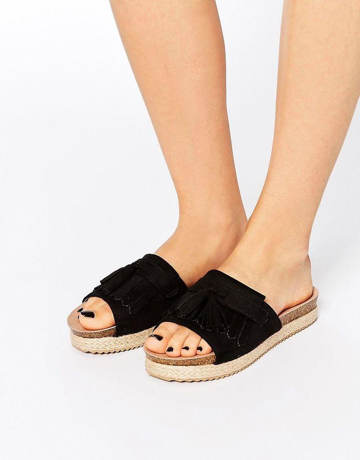 Lost+Ink+Nancy+Fringed+Slide+Sandals
