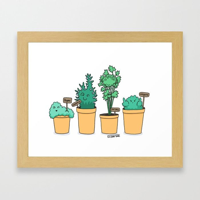 Buy Oregano Framed Art Print by lucygrovejones. Worldwide shipping available at Society6.com. Just one of millions of high quality products available.