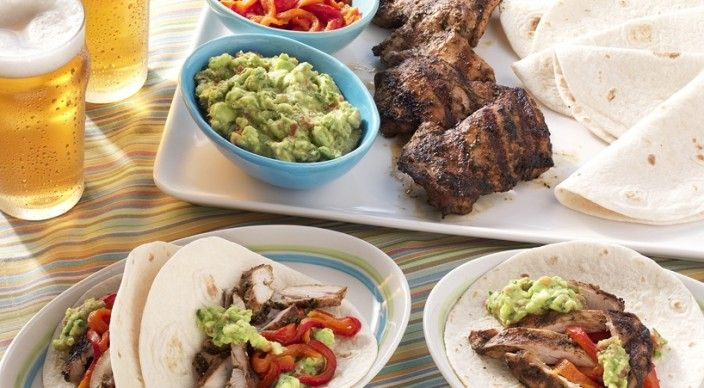 Check out this delicious recipe for Chicken Fajitas with Smoked Tomato Guacamole from Weber—the world's number one authority in grilling.