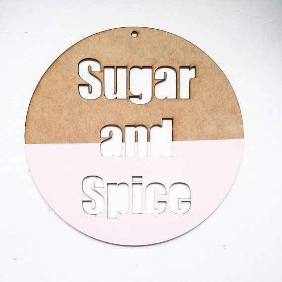 Sugar+and+spice+wall+decor+by+thetickledpinkfox+on+Etsy