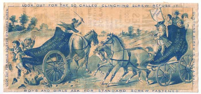 Antiques from the web Standard Screw Fastened Trade Card Blue