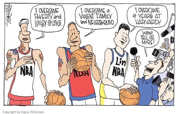 Signe Wilkinson's Editorial Cartoons on Jeremy Lin #Linsanity