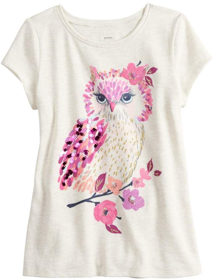 7757aa05 Sonoma Goods For Life Girls 4-12 SONOMA Goods for Life Glittery Graphic Tee