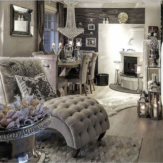 2241 best shabby chic french cottage images on pinterest for Grey shabby chic living room ideas
