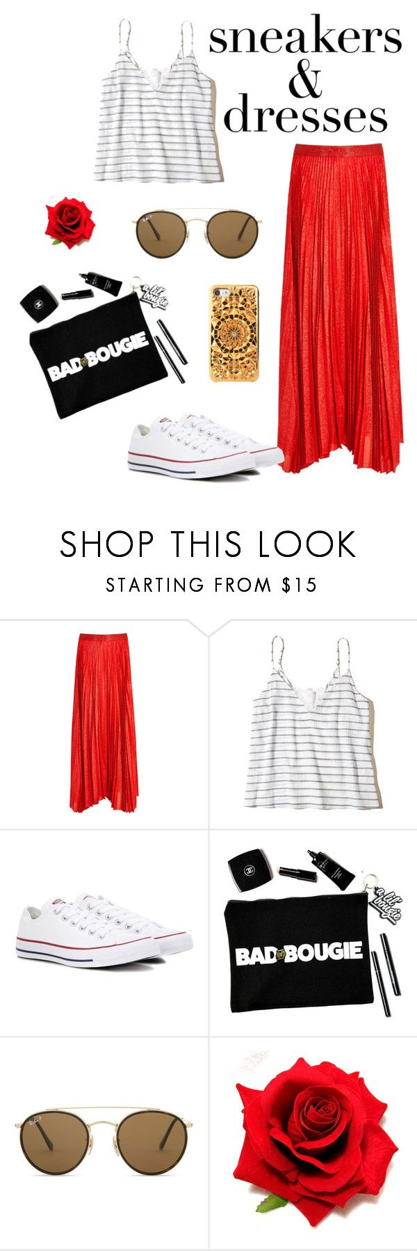 """""""Bambolina"""" by valentina-viola-1 ❤ liked on Polyvore featuring Alice + Olivia, Hollister Co., Converse, Ray-Ban and Felony Case"""