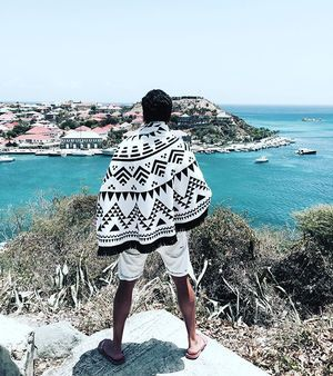 Post card from Saint-Barthelemy | Black & White Roundie available via www.we-are-summer.com @shop_wearesummer