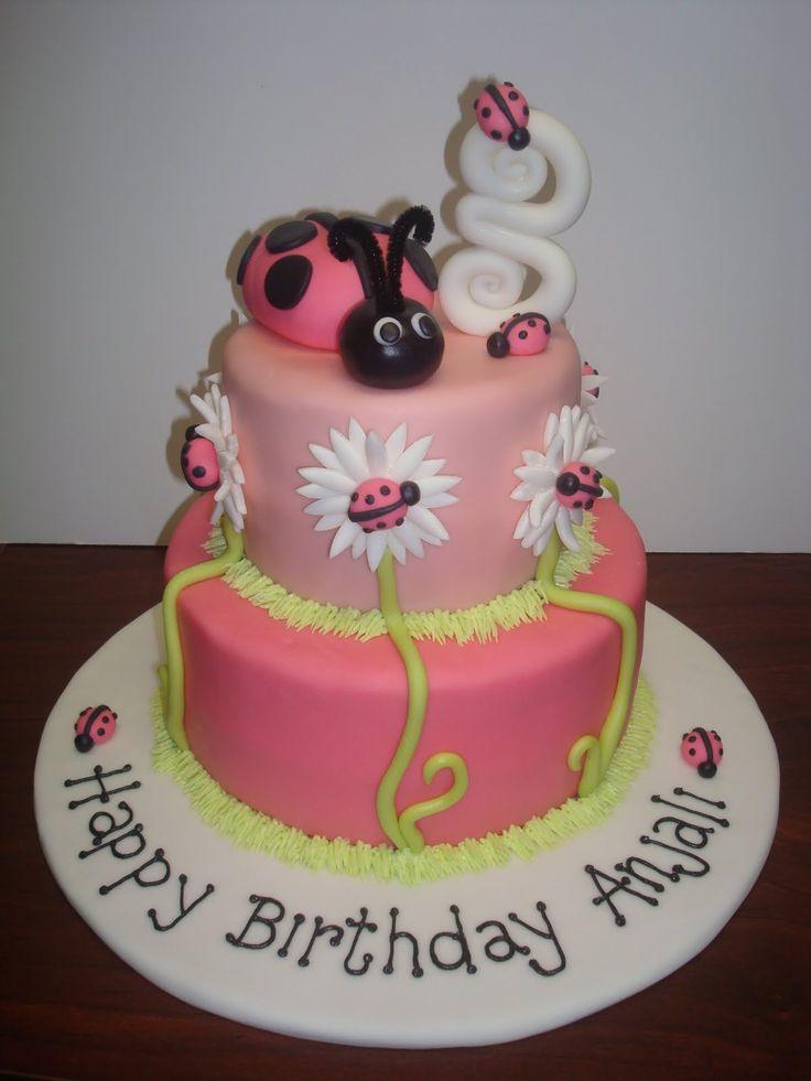 Anjalis Lady Bug Birthday Cake cakepins.com