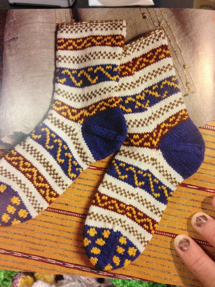 Ukrainian socks from Folk Socks by Nancy Bush #knitting