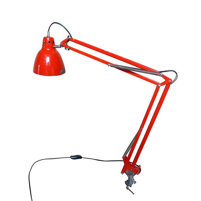 Lampka kreślarska z lat 70. zachowana w stanie bardzo dobrym. Wymienione wszystkie elementy elektryczne. Lampka…