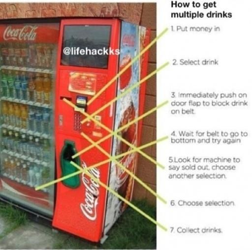 Vending machine life hack