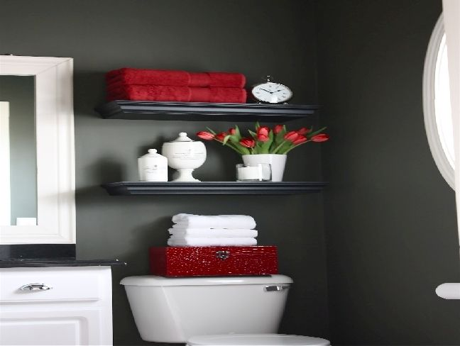 25 best ideas about red bathroom accessories on pinterest for Bathroom decor red