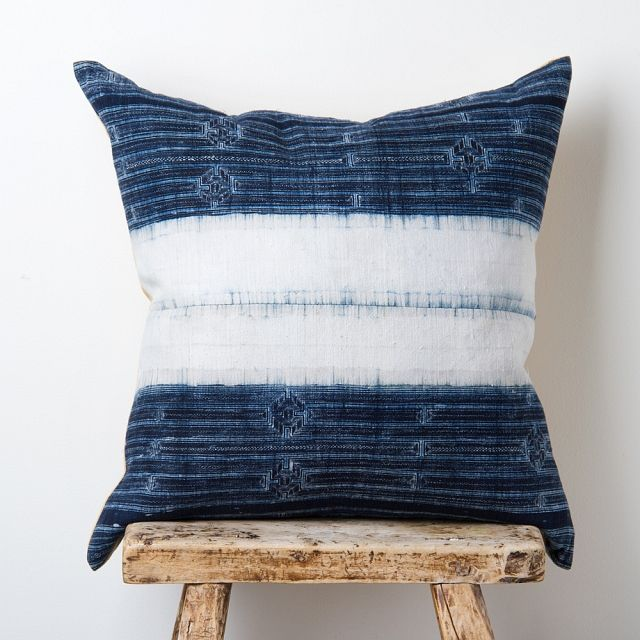 Vintage Batik Hilltribe Pillow / John Robshaw