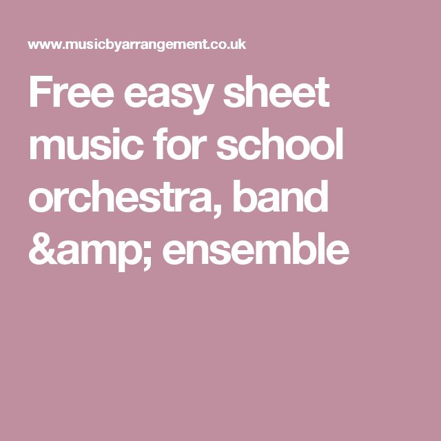 1000+ Ideas About Easy Sheet Music On Pinterest