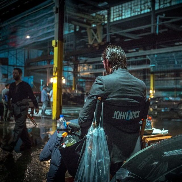 #JohnWick/JohnWickChapter2 behind the scenes  Keanu Reeves(John)