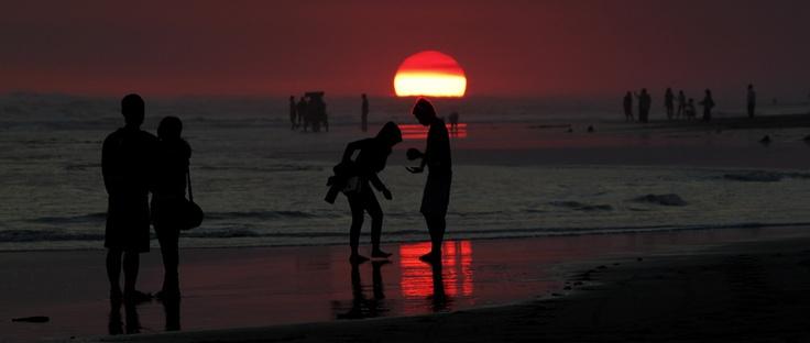 Sunset at Parangtritis Beach, Indonesia
