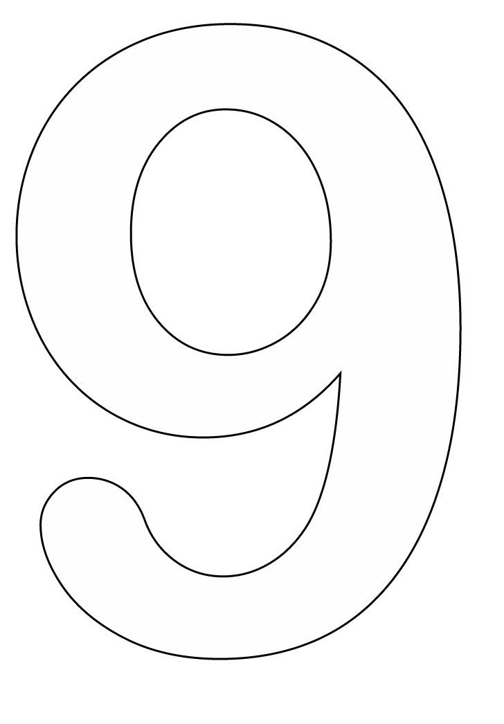 number 9 coloring pages