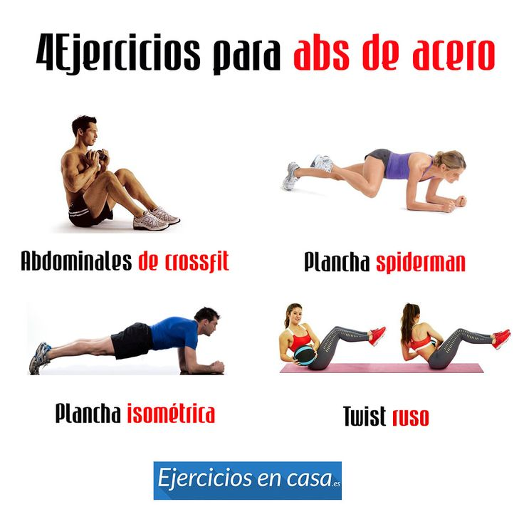 #4 ejercicios para los abdominales en casa