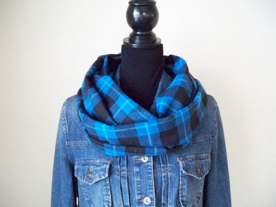 Infinity Scarf Buffalo Plaid Scarf Buffalo by frecklefacemonday on etsy
