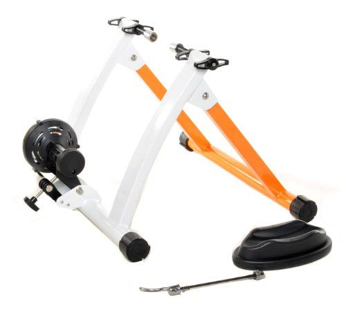 conquer indoor bike trainer portable exercise bicycle magnetic stand train throughout the winter regardless of the weather with this magnetic resistance