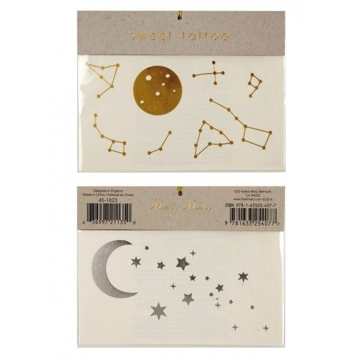 Constellations, stars and moons temporary tattoos - Meri Meri