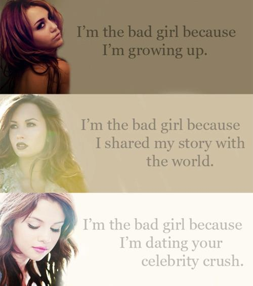 Demi Lovato And Selena Gomez And Miley Cyrus   demi lovato, miley cyrus, selena gomez - inspiring picture on Favim ...
