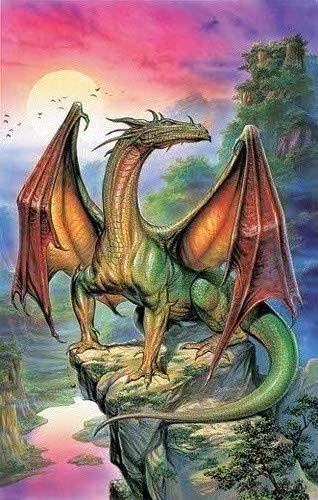 Дракон на утесе | Галерея драконов, изображения драконов, картинки драконов, рисунки драконов