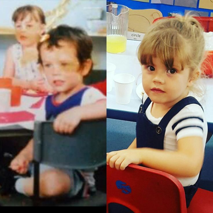 Me and my daughter in nursery nearly 30 years apart
