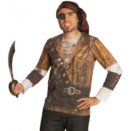 Déguisement T-Shirt pirate adulte mixte