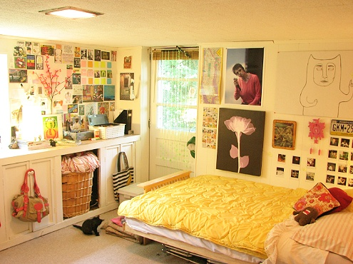 1 make your own headboard gardens style and cool ideas for Cute dorm bathroom ideas