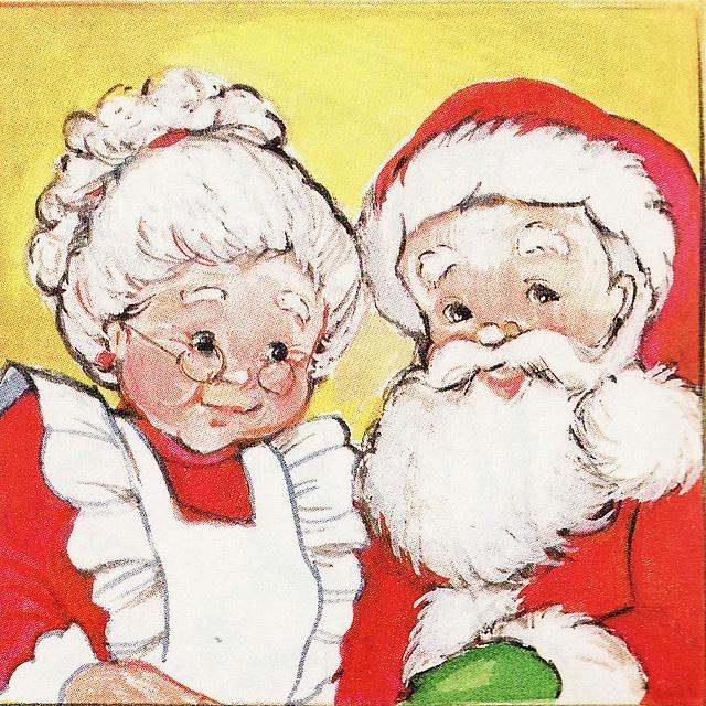 Mr & Mrs Claus by Calsidyrose, via Flickr