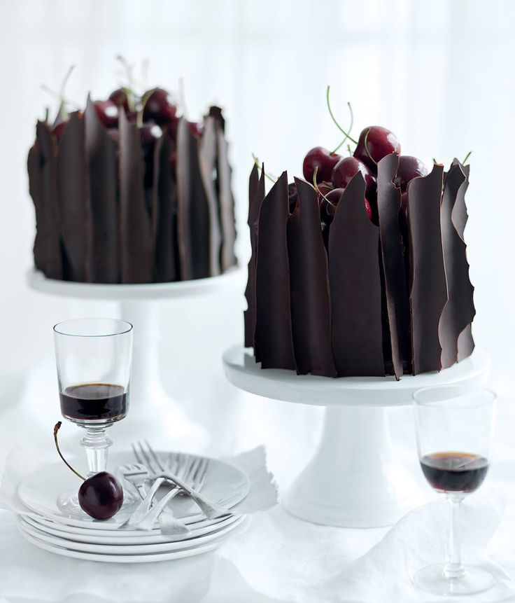 Little Black Forest Cakes from 2011 Spring issue of Donna Hay Magazine