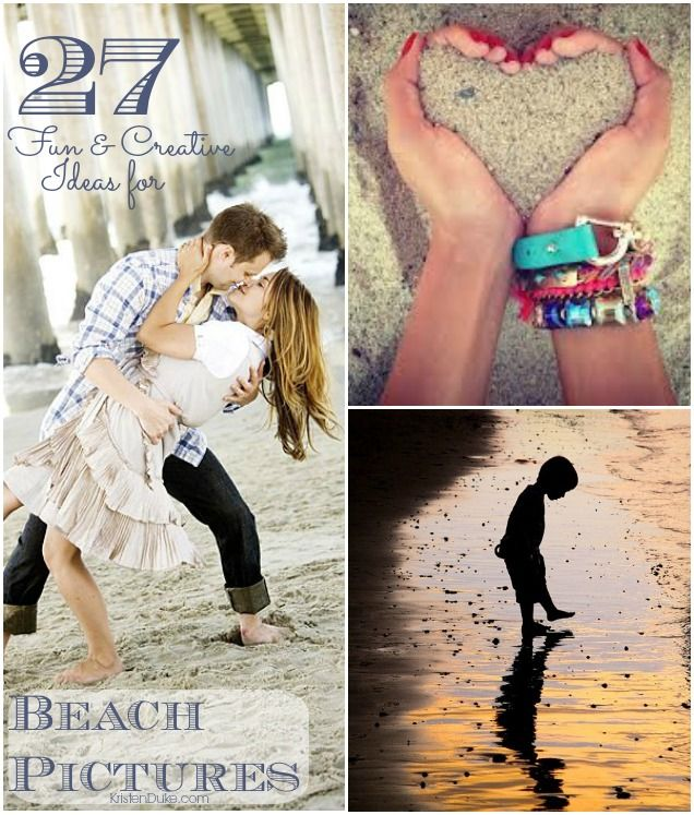 27 Fun & Creative Ideas for Beach Pictures