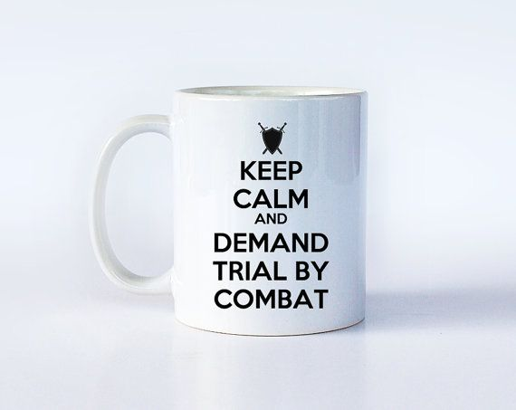 Game of Thrones Mug  Tyrion Lannister  Keep Calm Trial by