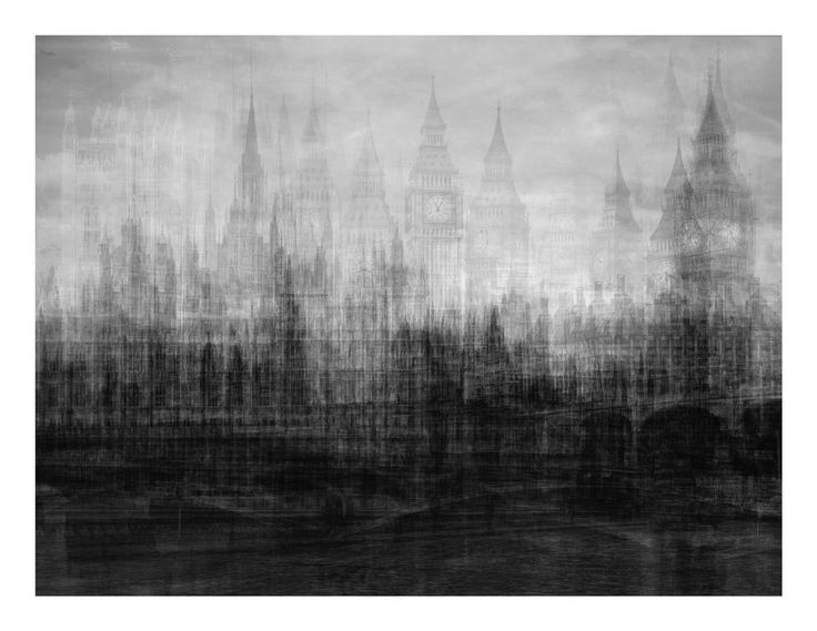 Layered images series by Idris Khan. Reminds of charcoal drawings, doesn't it?