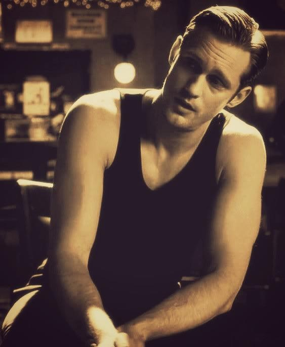 He's too sexy for ANY shirt, but if he MUST wear one, this would be my choice....  :)    Eric Northman -True Blood