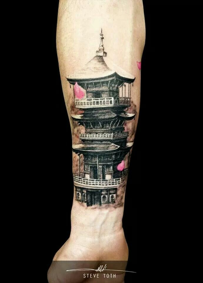 japanese temple tattoos pinterest temples. Black Bedroom Furniture Sets. Home Design Ideas