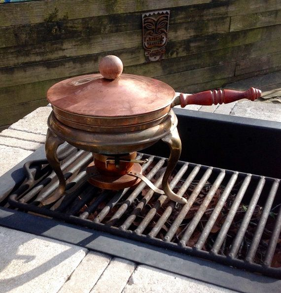 FREE SHIPPING-Vintage Copper and Brass Chafing by ellansrelics02
