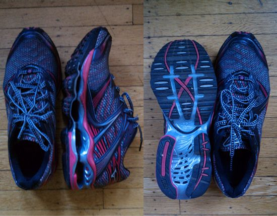 So cool! Mizuno wave prophecy...7 years of research dumped into one shoe. They are said to improve running performance with optimal energy disbursement, I just think they look sweeeet.