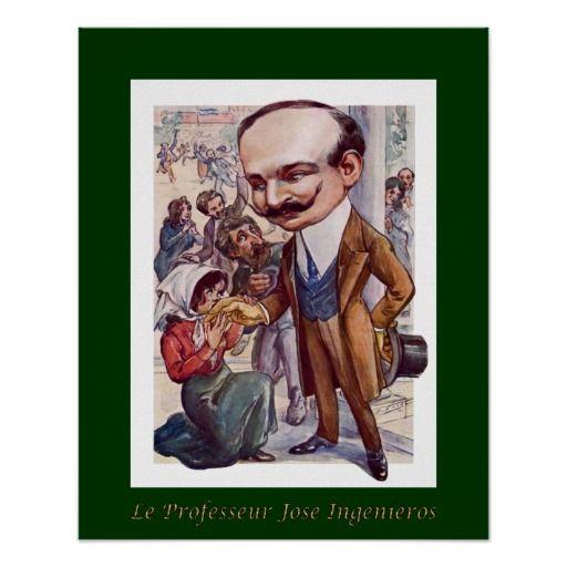 Jose Ingenieros ~Pharmacologist ~Caricature ~Voigt