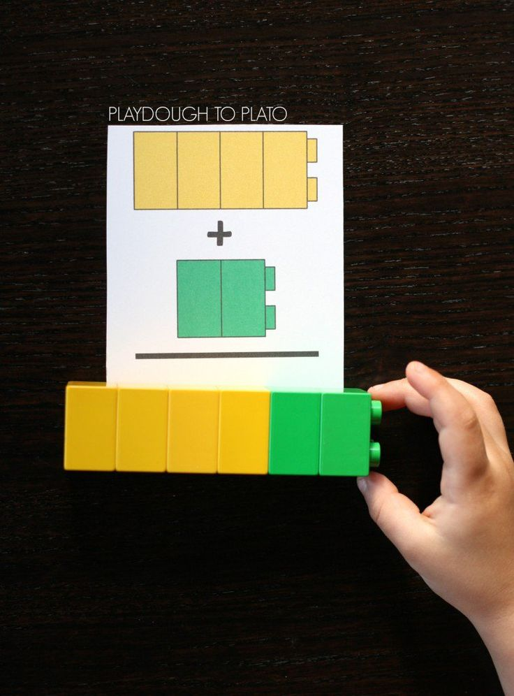 LEGO Addition Cards for Kids. Fun, hands-on freebie teaching kids how to add together two numbers. Great math center!