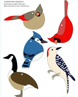 Template for bird ornaments. I would like to embellish a blanket with some of these.