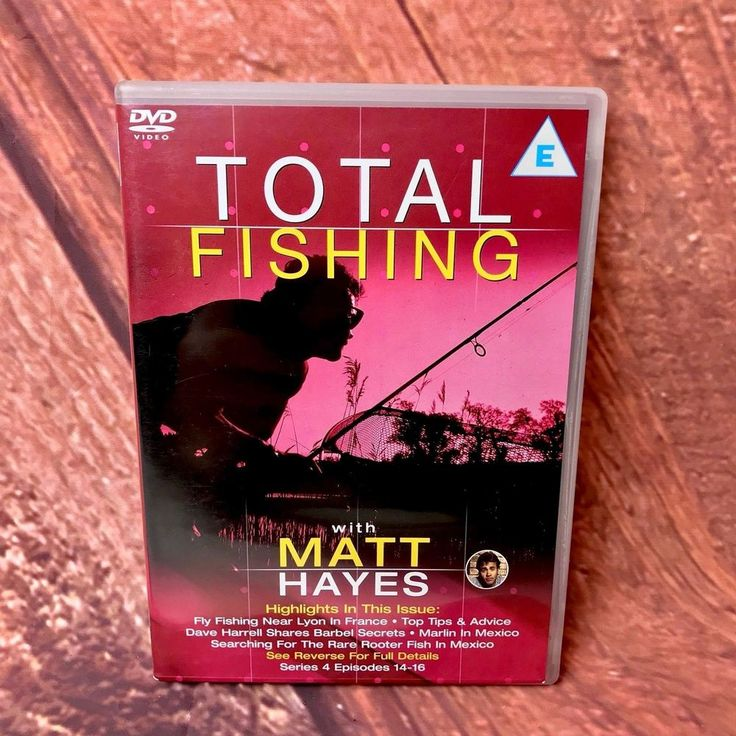 Total fishing Matt Hayes Series 4 episodes 14-16 Dvd Fly River Marlin Rooterfish