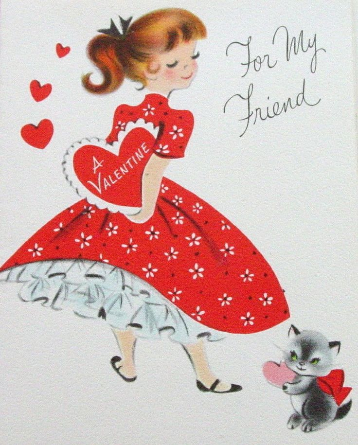 96 best Vintage Valentines Card images – Valentine Cards for a Friend