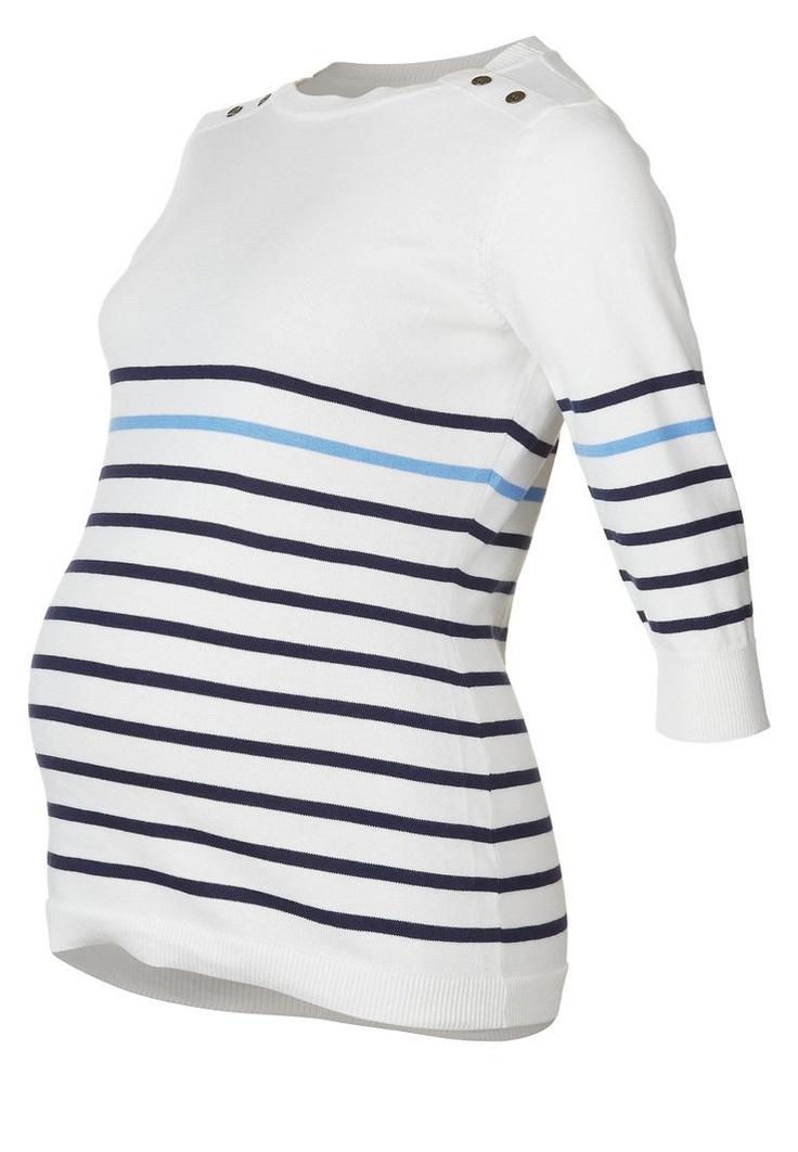 JoJo Maman Bébé - BRETON - Stickad tröja - Vitt 350